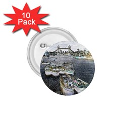 River Thames Art 10 Pack Small Button (round) by Londonimages