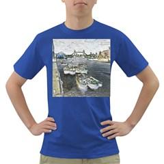 River Thames Art Colored Mens'' T Shirt