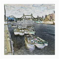 River Thames Art Single Sided Large Glasses Cleaning Cloth by Londonimages