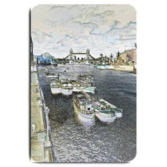River Thames Art Large Door Mat by Londonimages