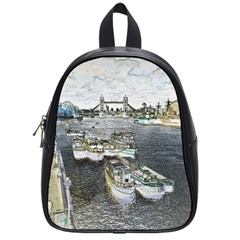 River Thames Art Small School Backpack by Londonimages