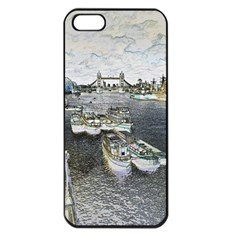 River Thames Art Apple Iphone 5 Seamless Case (black) by Londonimages