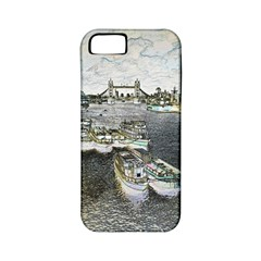 River Thames Art Apple Iphone 5 Classic Hardshell Case (pc+silicone) by Londonimages