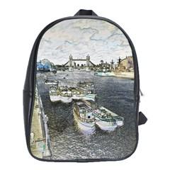 River Thames Art School Bag (xl) by Londonimages