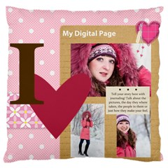 Love By Ki Ki   Large Cushion Case (two Sides)   St7ic3qpw9ap   Www Artscow Com Front