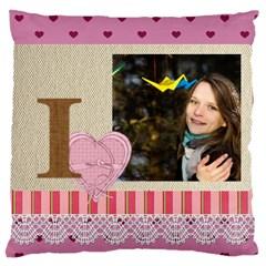 Love By Ki Ki   Large Cushion Case (two Sides)   70zhl55l0ffe   Www Artscow Com Back