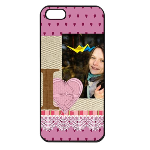 Love By Ki Ki   Apple Iphone 5 Seamless Case (black)   6c7l05k78bd7   Www Artscow Com Front