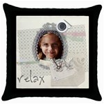 kids, fun, child, play, happy - Throw Pillow Case (Black)