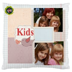 Kids, Fun, Child, Play, Happy By Jacob   Large Cushion Case (two Sides)   8sv5wiewsg0e   Www Artscow Com Back