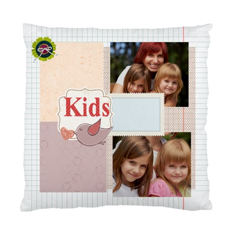 Kids, Love, Family, Happy, Play, Fun By Jacob   Standard Cushion Case (one Side)   N6me3k5gwdil   Www Artscow Com Front