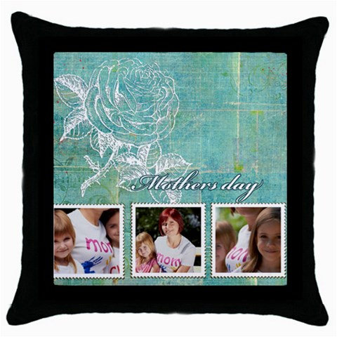 Mothers Day By Jacob   Throw Pillow Case (black)   U1uyu66txdrs   Www Artscow Com Front