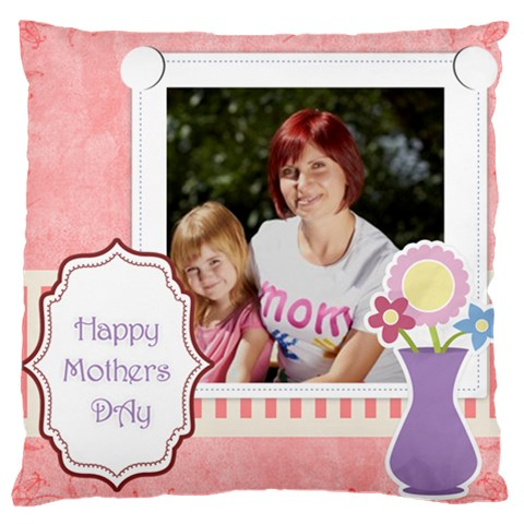 Mothers Day By Jacob   Large Cushion Case (one Side)   Yu38mbzizh35   Www Artscow Com Front