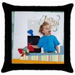 easter, spring, kids - Throw Pillow Case (Black)