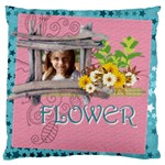 easter, spring, kids, flower - Large Cushion Case (Two Sides)