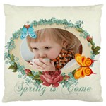 easter, spring, kids, flower - Large Cushion Case (One Side)
