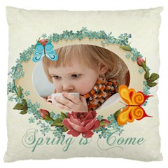 Easter, Spring, Kids, Flower By Jacob   Large Cushion Case (two Sides)   9ihhsejt7d8e   Www Artscow Com Back