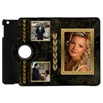 Black and Gold marble Apple iPad mini Flip Case 360 - Apple iPad Mini Flip 360 Case