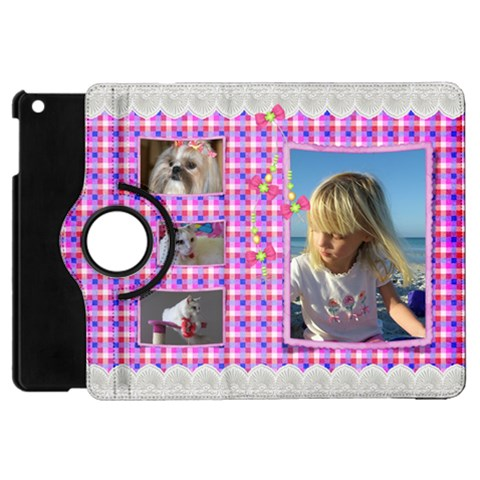 Pink Frill Apple Ipad Mini Flip Case 360 By Deborah   Apple Ipad Mini Flip 360 Case   Wzmy3tcbrqs1   Www Artscow Com Front