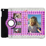 Pink Frill Apple iPad Mini Flip Case 360 - Apple iPad Mini Flip 360 Case