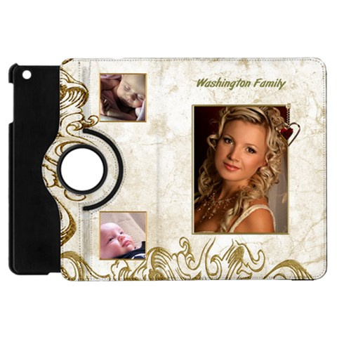 My Family Apple Ipad Mini Flip Case 360 By Deborah   Apple Ipad Mini Flip 360 Case   Fmle4sg2cewm   Www Artscow Com Front
