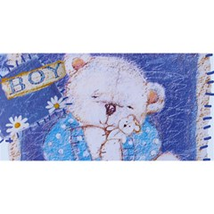 Teddy Hugs Blue 3d Greeting Card By Deborah   Hugs 3d Greeting Card (8x4)   Niaxklcqkdmm   Www Artscow Com Front