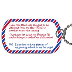 Geomail Chick By Carrie Ekeroth   Dog Tag (two Sides)   Tmac3ydfyyju   Www Artscow Com Back