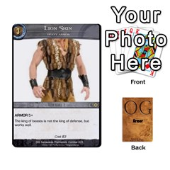 King Og Armor By Michael   Playing Cards 54 Designs   Hf26xn1xtgd4   Www Artscow Com Front - HeartK