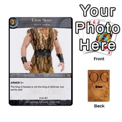 Og Armor By Michael   Playing Cards 54 Designs   Hf26xn1xtgd4   Www Artscow Com Front - Diamond2