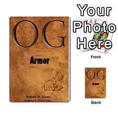 Og Armor By Michael   Playing Cards 54 Designs   Hf26xn1xtgd4   Www Artscow Com Back
