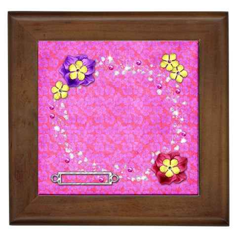 Vibrant Tile By Shelly   Framed Tile   Lgkgpkkambar   Www Artscow Com Front