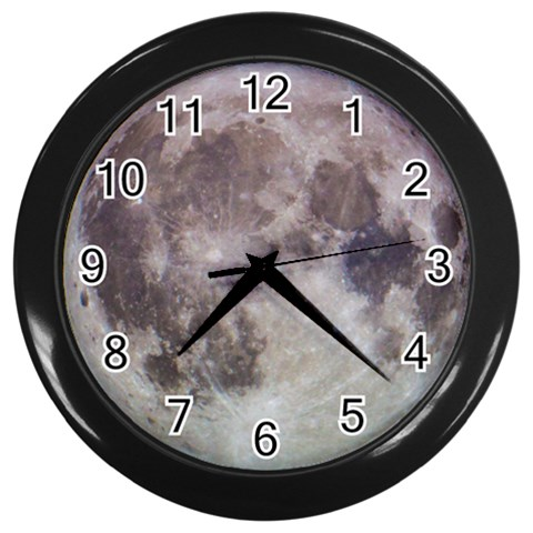 Moon Clock By Bg Boyd Photography (bgphoto)   Wall Clock (black)   Hekxwvylq181   Www Artscow Com Front