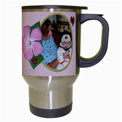 Awesome Grandma Travel Mug By Chere s Creations   Travel Mug (white)   76527frvrein   Www Artscow Com Right