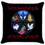 GOD pillow - Throw Pillow Case (Black)
