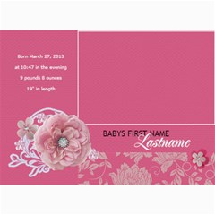 Hunny Bunny Girl Birth Announcement 01 By One Of A Kind Design Studio   5  X 7  Photo Cards   Rnu1nz2akfpe   Www Artscow Com 7 x5 Photo Card - 3