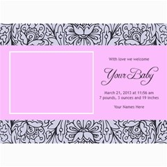 Hunny Bunny Girl Birth Announcement 03 By One Of A Kind Design Studio   5  X 7  Photo Cards   22xq8fv11f74   Www Artscow Com 7 x5 Photo Card - 4