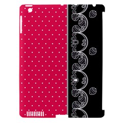 Lace Dots With Black Pink Apple Ipad 3/4 Hardshell Case (compatible With Smart Cover) by strawberrymilk