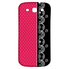 Lace Dots With Black Pink Samsung Galaxy S3 S Iii Classic Hardshell Back Case by strawberrymilk