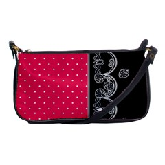 Lace Dots With Black Pink Shoulder Clutch Bag by strawberrymilk