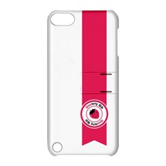 Brand Ribbon Pink With White Apple Ipod Touch 5 Hardshell Case With Stand by strawberrymilk
