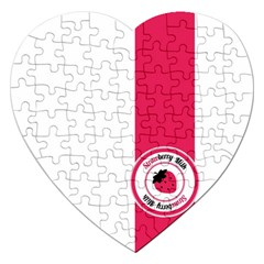 Brand Ribbon Pink With White Jigsaw Puzzle (heart) by strawberrymilk