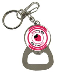 Brand Ribbon Pink With White Bottle Opener Key Chain by strawberrymilk