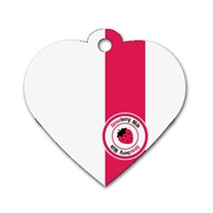 Brand Ribbon Pink With White Dog Tag Heart (one Side) by strawberrymilk