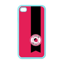 Brand Ribbon Black With Pink Apple Iphone 4 Case (color) by strawberrymilk