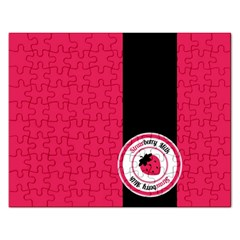 Brand Ribbon Black With Pink Jigsaw Puzzle (rectangular)