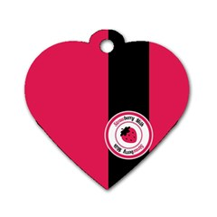 Brand Ribbon Black With Pink Dog Tag Heart (one Side) by strawberrymilk