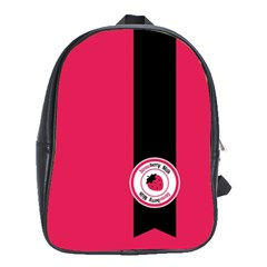 Brand Ribbon Black With Pink School Bag (large) by strawberrymilk