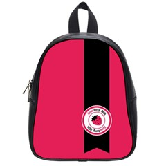 Brand Ribbon Black With Pink School Bag (small) by strawberrymilk