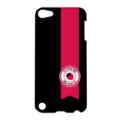 Brand Ribbon Pink With Black Apple Ipod Touch 5 Hardshell Case by strawberrymilk