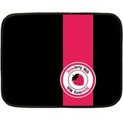Brand Ribbon Pink With Black Mini Fleece Blanket(two Sides) by strawberrymilk