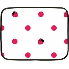 Strawberry Dots Pink Mini Fleece Blanket(two Sides) by strawberrymilk